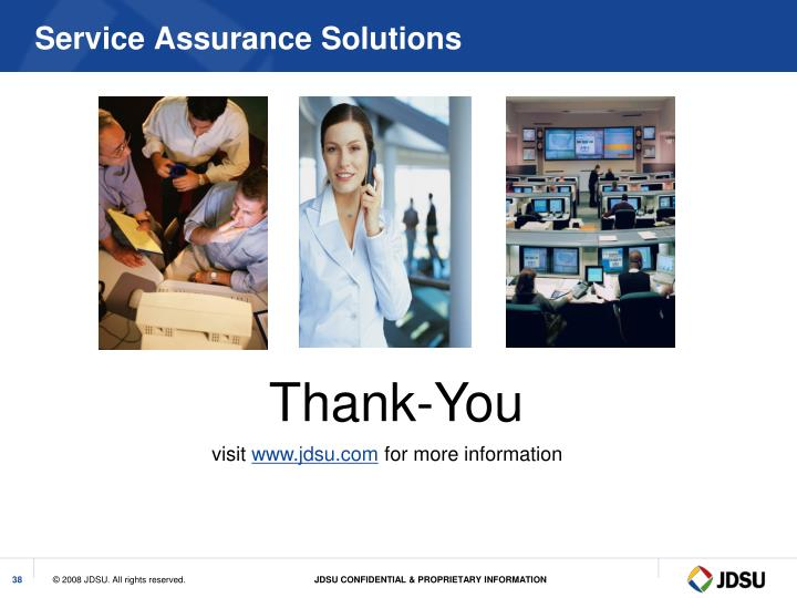 Service Assurance Solutions