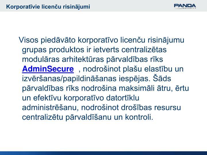 Korporatīvie licenču risinājumi