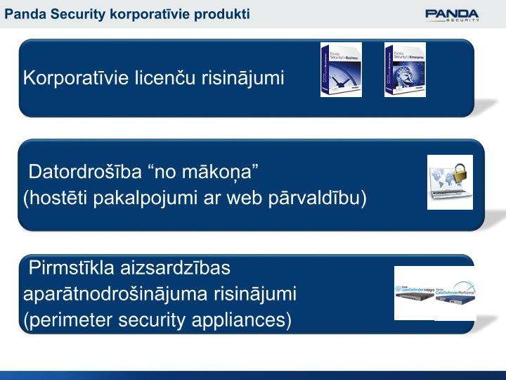 Panda Security korporatīvie produkti