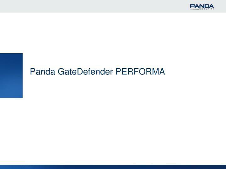Panda GateDefender PERFORMA