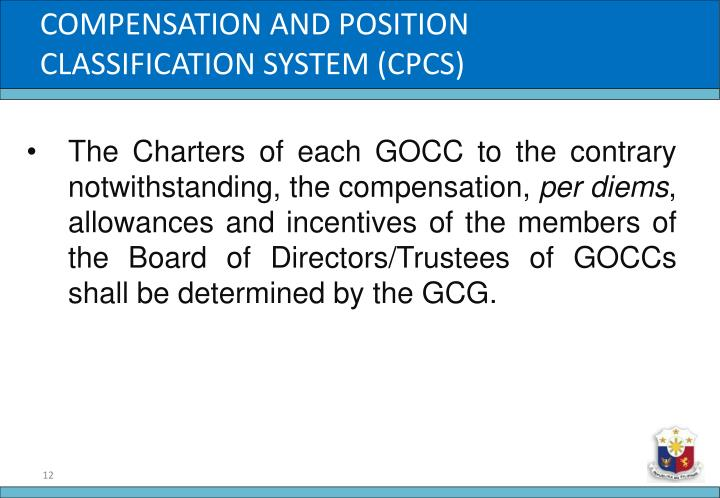 COMPENSATION AND POSITION CLASSIFICATION SYSTEM (CPCS)