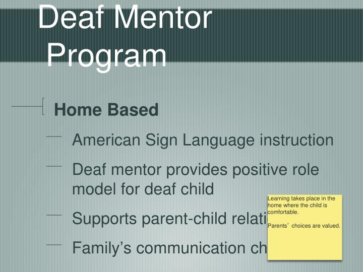 Deaf Mentor Program
