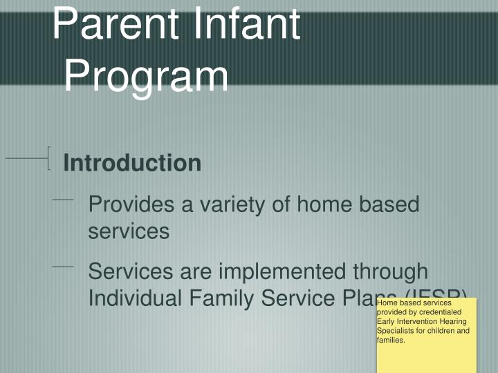 Parent infant program1