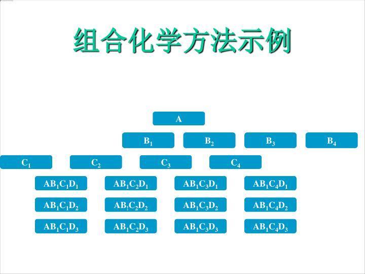 组合化学方法示例