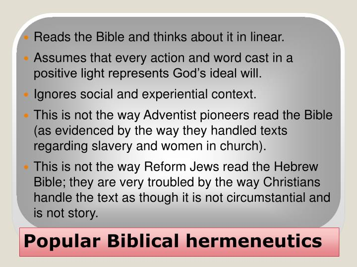 Popular biblical hermeneutics