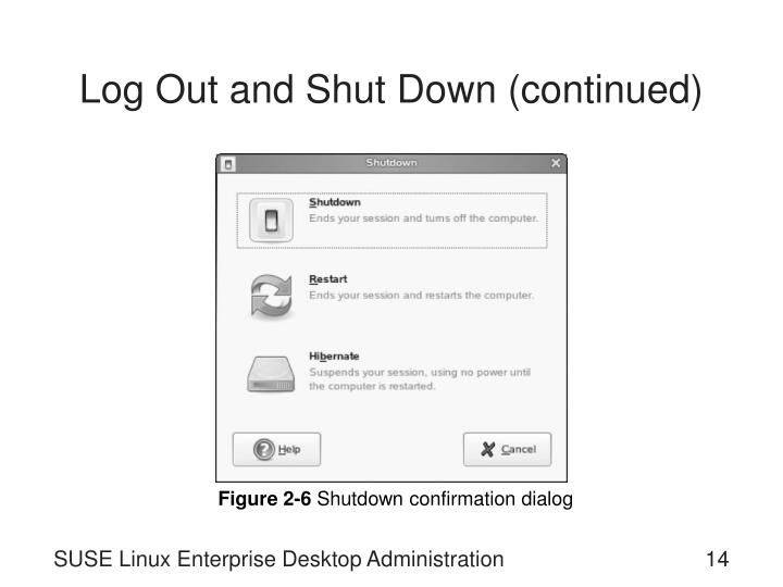 Log Out and Shut Down (continued)