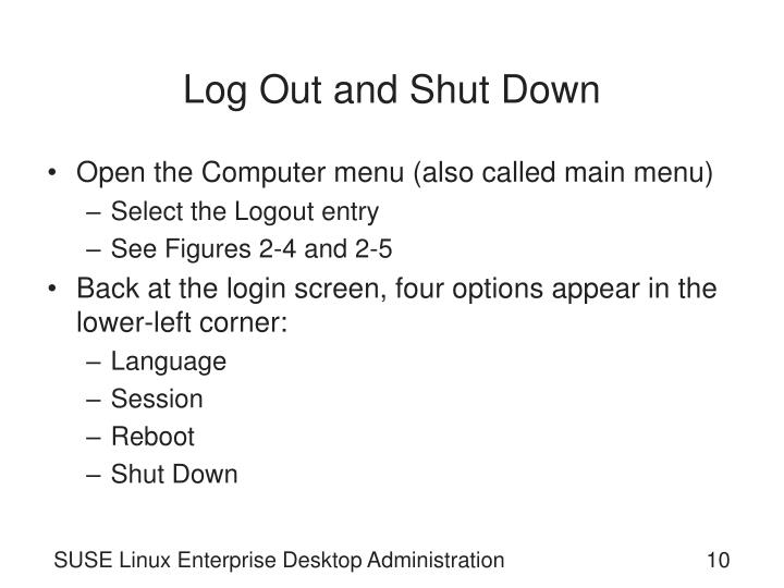 Log Out and Shut Down