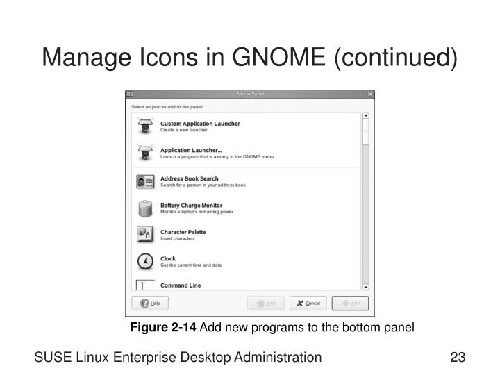 Manage Icons in GNOME (continued)