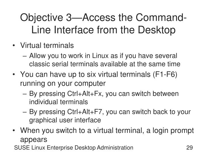 Objective 3—Access the Command-Line Interface from the Desktop