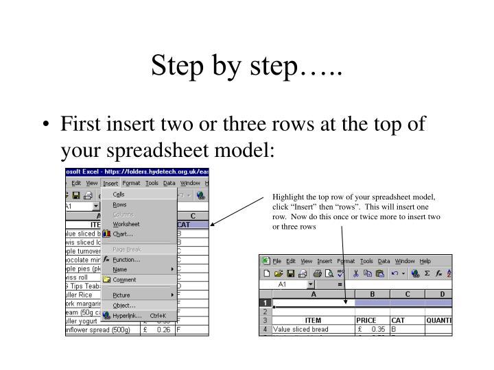 Step by step…..