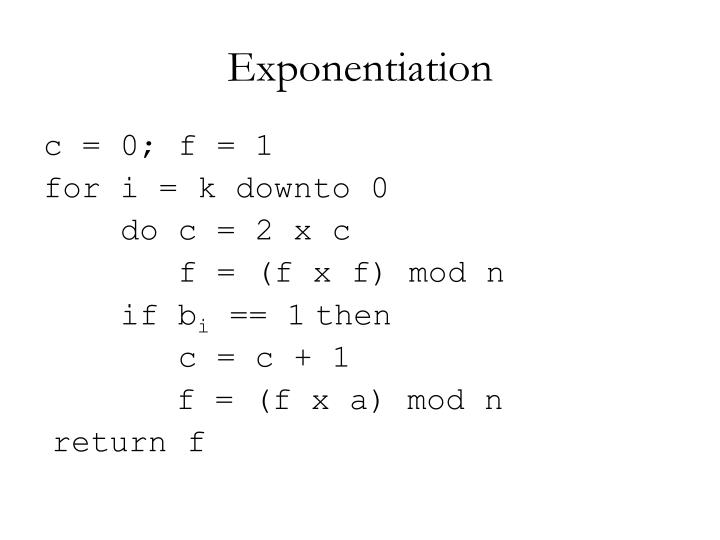 Exponentiation