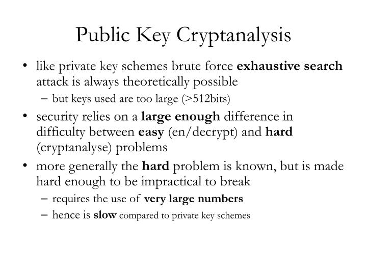 Public Key Cryptanalysis