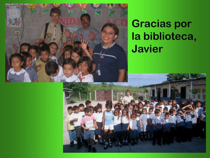 Gracias por la biblioteca, Javier