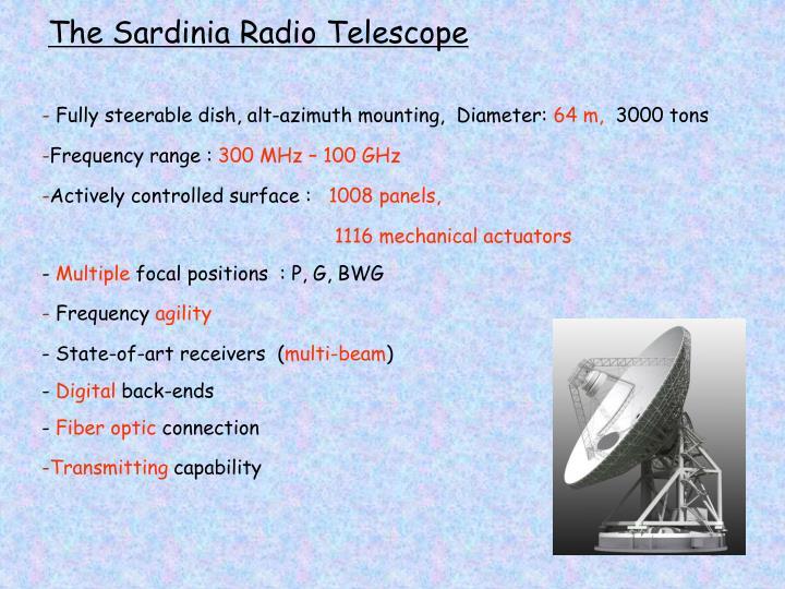 The Sardinia Radio Telescope