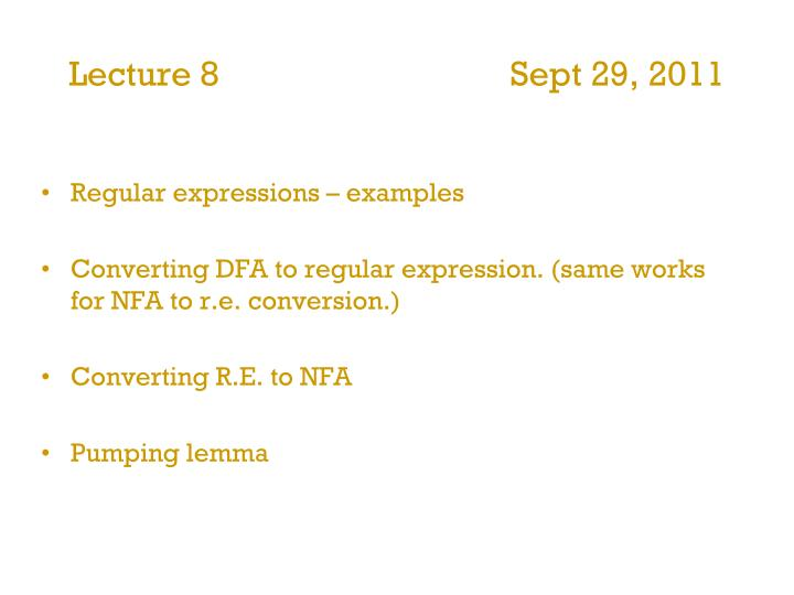 lecture 8 sept 29 2011