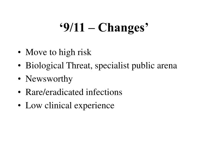 '9/11 – Changes'