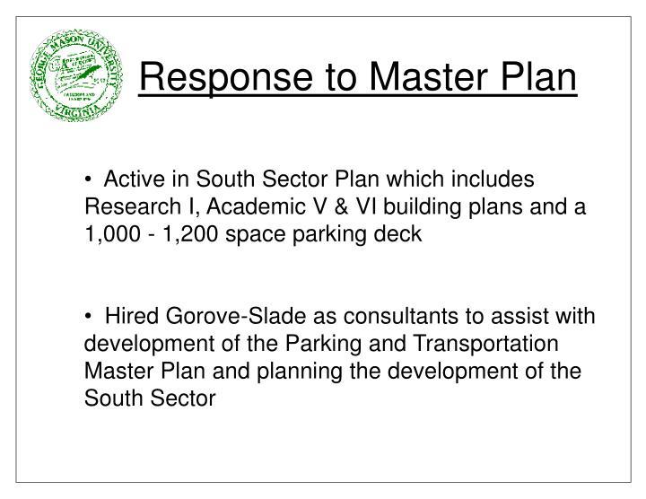 Response to Master Plan