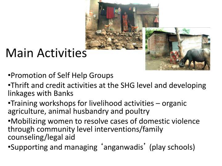 Main Activities