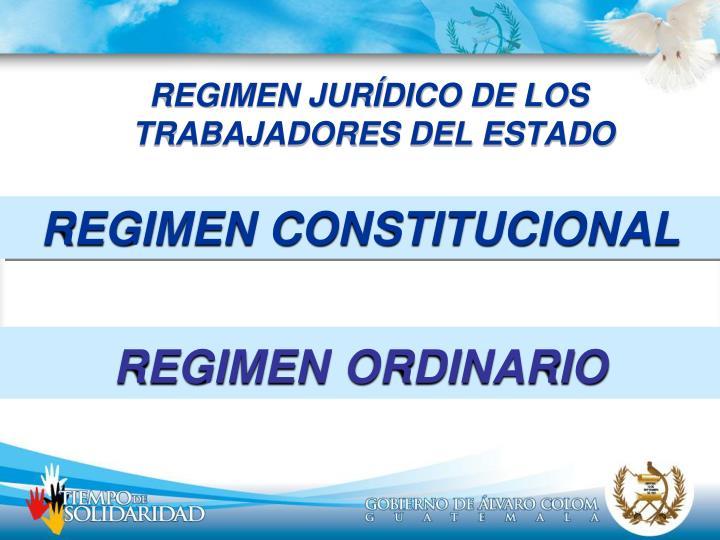 REGIMEN JURÍDICO DE LOS TRABAJADORES DEL ESTADO