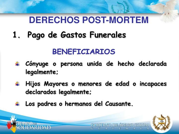 DERECHOS POST-MORTEM