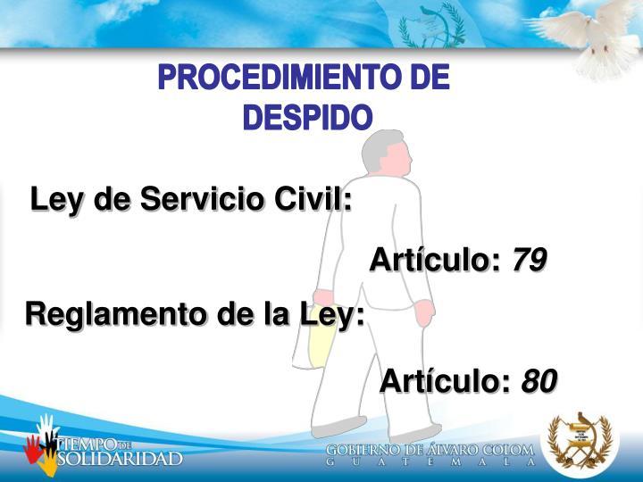 PROCEDIMIENTO DE