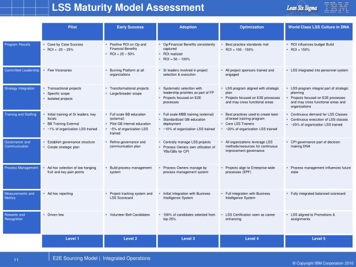 LSS Maturity Model Assessment