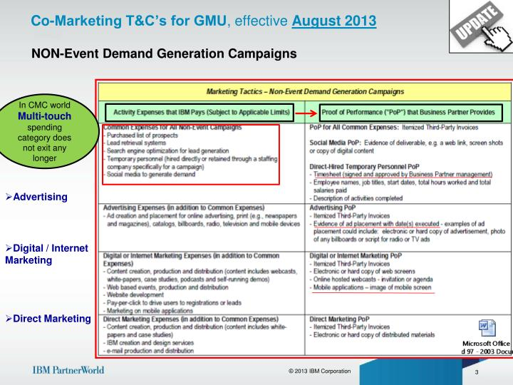 Co marketing t c s for gmu effective august 2013