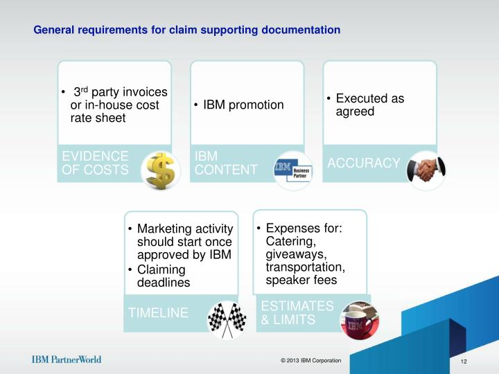 General requirements for claim supporting documentation