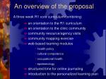 an overview of the proposal