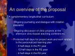 an overview of the proposal1