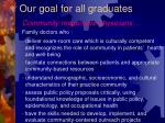 our goal for all graduates