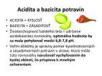 acidita a bazicita potrav n