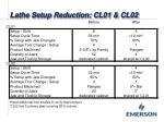 lathe setup reduction cl01 cl021