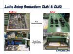 lathe setup reduction cl01 cl022