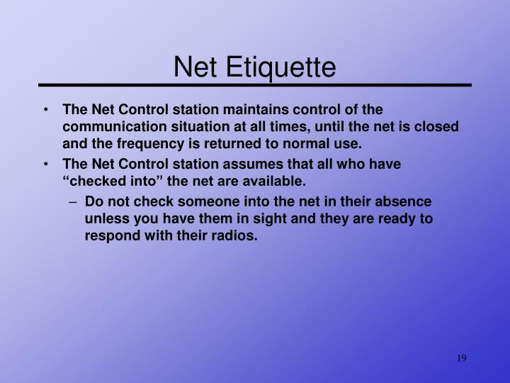 Net Etiquette