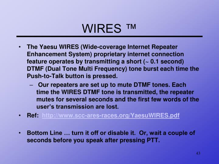 WIRES ™