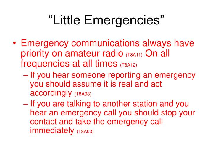 """Little Emergencies"""