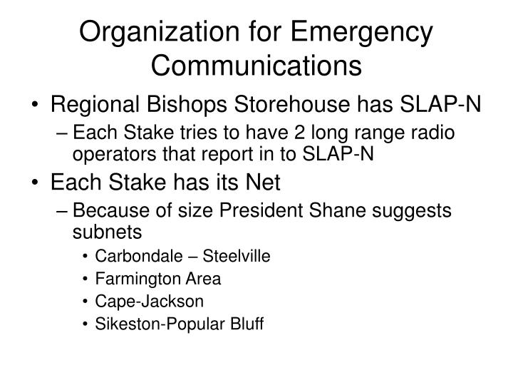 Organization for Emergency Communications