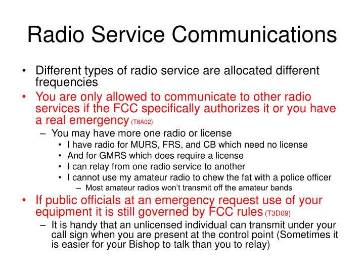 Radio Service Communications