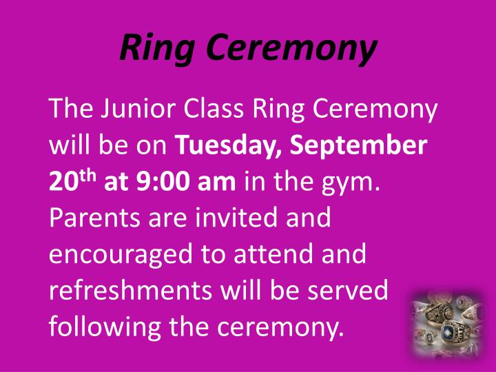 Ring Ceremony