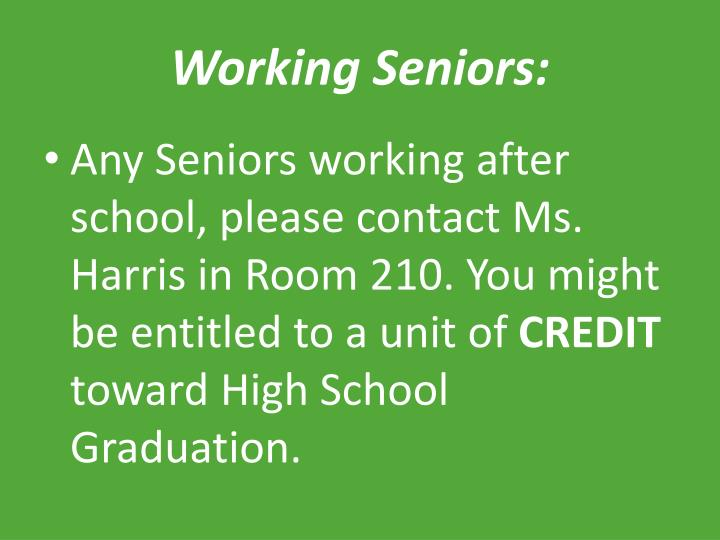 Working Seniors:
