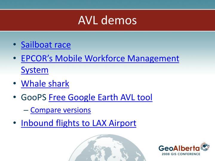 AVL demos