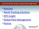 commercial avl systems supporting google earth