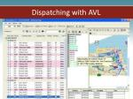 dispatching with avl