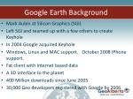 google earth background