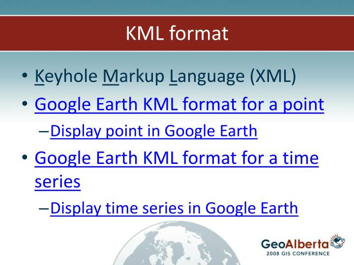 KML format