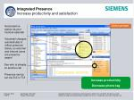 integrated presence increase productivity and satisfaction