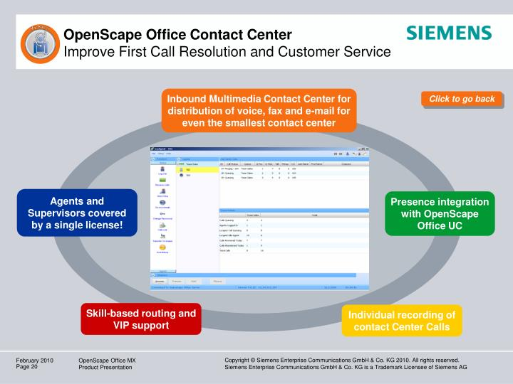 OpenScape Office Contact Center