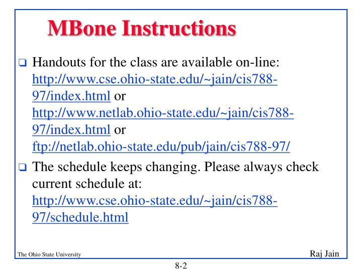 MBone Instructions