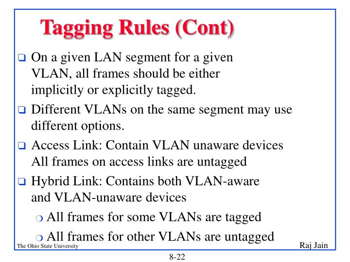 Tagging Rules (Cont)